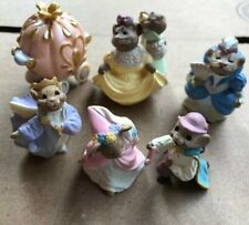 "1994/95 Hallmark Merry Miniatures ""Cinderella Collection"" Set of 6 w/ Stepsister"