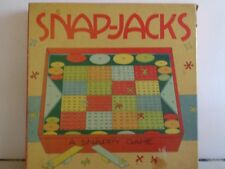 1940's? Snap-Jacks Board Game Colorful Gameboard Manual Dexterity Game