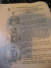Italy WW I Italian Gas Mask Instruction Sheet WW 1 Gremany
