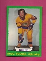 1973-74 OPC # 215 KINGS DOUG VOLMAR ROOKIE  NRMT+  CARD (INV#1998)