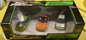 """Fast and the Furious 1/64 3 Car Set. """"Supra, Civic, and Eclipse. VHTF."""