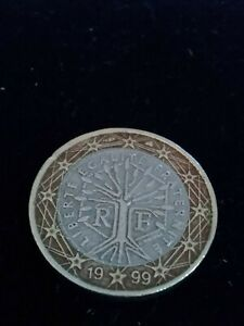 Magnifique et Rare Pièce de 1 euro Française 1999 Arbre de vie