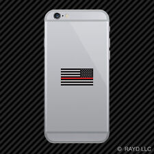 Reverse Thin Red Line Subdued American Flag Cell Phone Sticker Mobile