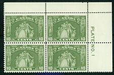 CANADA-1934- LOYALISTS STATUE U. R. PLATE N° 1 BL. - VF**