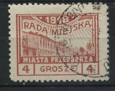 Polen 1918 Fischer Nr 8 Stadtpost Przedborz  ECHT!Type 2