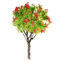 Safflower leaf tree Miniature Dollhouse Pots Decor Moss Bonsai Mini Landsca M6Y9