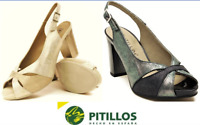 Pitillos Shoes Spain Comfort Leather toe peeper heel shoes - Pitillos 5100