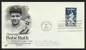 #2046 20c Babe Ruth, Art Craft-Add FDC **ANY 4=FREE SHIPPING**