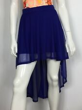 HM gonna lunga doppia usato donna minigonna w26 tg 40 eur36 blu skirt mare T4144