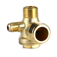 Brass 3-way Unidirectional Check Valve Connect Pipe Fittings for Air Compressor