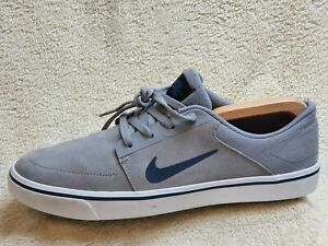 Nike SB Portmore mens trainers Suede Grey/White UK 9 EUR 44 US 10