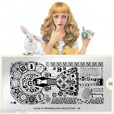 MoYou London Alice 5 Collection Stamping Schablone Ornament Schrift