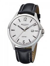 Regent Herrenuhr Uhr Edelstahl Saphirglas Leder Datum 10 BAR GM-1630