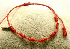 """Pulsera Cabala """" SUERTE""""   7 nudos rojos en hilo encerado (100% artesanal)"""