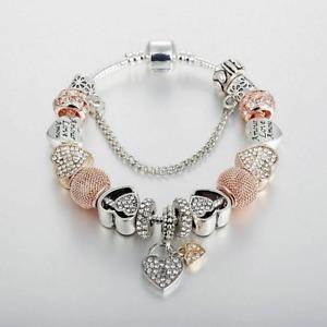 Authentic Pandora Bracelet Silver Luxury Silver Bangle With Love Heart European