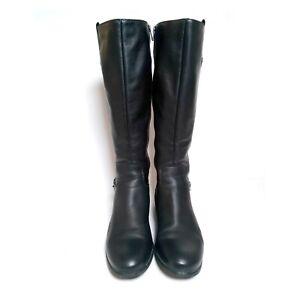 LA CANADIENNE Black Leather Riding Boots Stefanie Sz 8.5