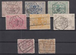 AU5519/ BELGIUM – 1879 / 1920 USED BACK OF THE BOOK LOT – CV 205 $