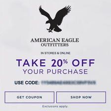 20% OFF American Eagle Outfitters Promo Coupon Code Ex 10/31/20 Online Only