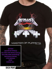 Official Metallica T Shirt Master of Puppets Black Classic Rock Metal Band Tee