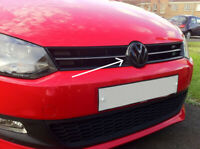 GLOSS BLACK FRONT GRILL+ REAR BOOT BADGE EMBLEM 6R GTI TSI TDI 6R1 1.2 1.4 WRC R