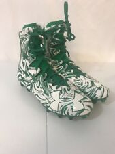 NEW Under Armour Highlight MC Green White Football Cleats Men's Size 8