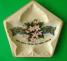 NOVA SCOTIA TARTAN & FLORAL EMBLEM SMALL MAPLE LEAF TRAY LORD NELSON POT.ENGLAND