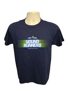 NYRR Run for Life New York Young Road Runners Youth Large Blue TShirt