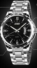 gents size fashion watch clear face and date funtion