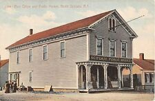 1910 Post Office Store North Scituate RI post card