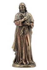 "Jesus Holding A Lamb Sculpture 6"" Tall Statue Figurine"