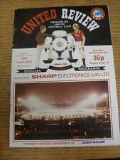 28/11/1984 Manchester United v Dundee United [UEFA Cup] (Creased). Item in very