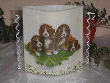 Tischlicht/Windlicht - Vier kleine Hunde - Tischdeko