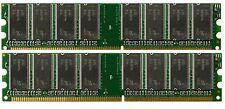 2GB 2 X 1GB Genuine Dell Dimension 1100 2400 3000 4600 8300 B110 PC3200 Memory