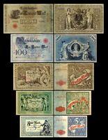 5 - 1000 Mark Reichskassenschein / Banknoten - Ausg. 1882 - 1884- Reproduktion