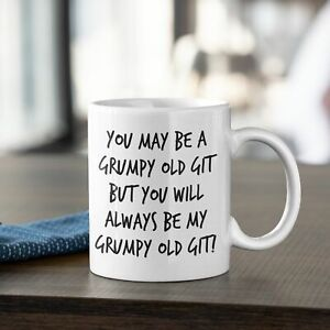YOU MAY BE A GRUMPY OLD GIT PRINTED HUMOUR MUG COASTER FREE P&P CHRISTMAS
