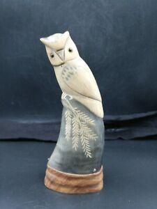 Corne Sculpté, Sculpture Hibou