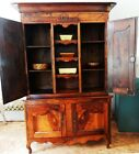 Antique French Country Buffet/Vaisselier Cabinet 19th C. French Walnut 2-parts.