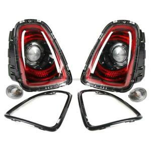 NEW OEM MINI R56 R57 R58 R59 BLACK LINE Rear Tail Light Lamp Retrofit KIT