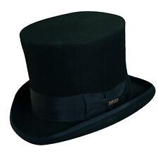 SCALA * BLACK WOOL TOP HAT * NEW SLASH STEAMPUNK ROCK DOORMAN CHRISTMAS CAROLER