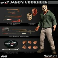 FRIDAY THE 13TH PART 3 JASON VOORHEES ONE:12 FIGURE MEZCO WEAPONS HEADS IN STOCK