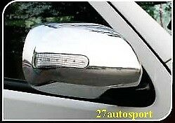 SIDE MIRROR LED CHROME COVER FOR TOYOTA HIACE COMMUTER VAN 2010 - 2018
