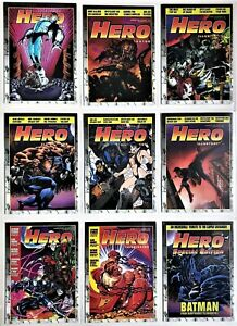 Hero Illustrated Cover Promos, complete 9 card set.  1994.