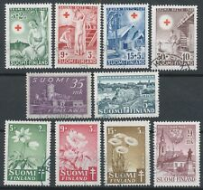 Finland 1949 Set of Used Stamps - Red Cross - Anti Tuberculosis