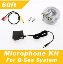 Q-See Compatible 60' Microphone Kit - all of QSee systems 60ft
