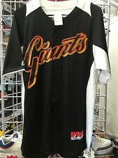 NWT MAJESTIC MENS SAN FRANCISCO GIANTS SHIRT / JERSEY STYLE BASEBALL  MLB