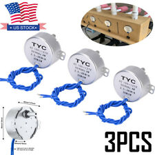 3pcs Synchronous Turntable Motor 25 3rmin 100 127v Cup Turner Cuptisserie