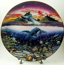 Decorative Plate by Robert Lyn Nelson, Danbury Mint 'Underwater Paridise'