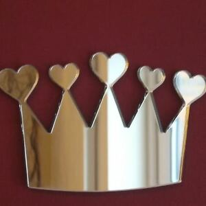 Crown of Hearts Acrylic Mirror (Several Sizes Available)