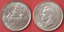 Almost Uncirculated 1937 Canada Silver 1 Dollar
