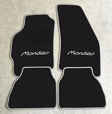 Autoteppich Fußmatten  für Ford Mondeo 2000' - 2006' schwarz silbergrau Neu